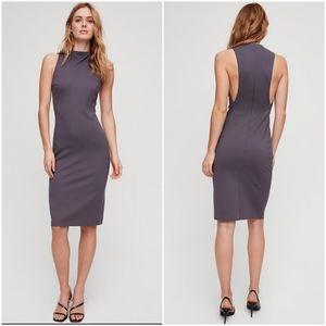 Babaton Matheson Mockneck Sleeveless Bodycon Dress